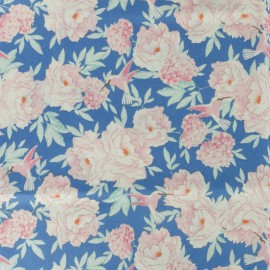 Tissu coton Tilda LemonTree collection - Hummingbird bleu x 10cm