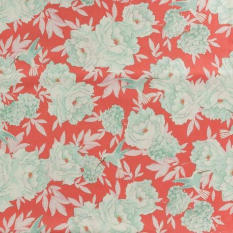 Tilda LemonTree collection cotton fabric - Flowerfield red x 10cm