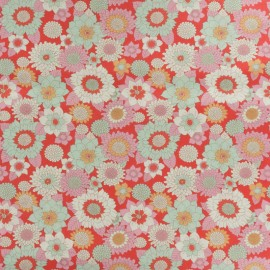 Tissu coton Tilda LemonTree collection - Boogie flower rouge x 10cm