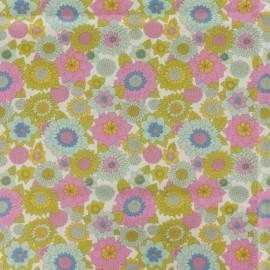 Tissu coton Tilda LemonTree collection - Boogie flower creme x 10cm