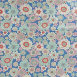 Tissu coton Tilda LemonTree collection - Boogie flower bleu x 10cm