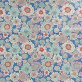 Tissu coton Tilda LemonTree collection - Boogie flower bleu x 10cm