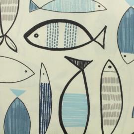 Tissu coton enduit - Eperlan x 50cm