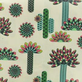 Tissu cretonne enduit - Atacama multi x 17cm