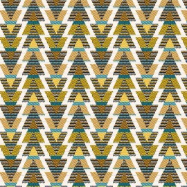 Tissu jacquard tissé teint Cuzco - or x 10cm