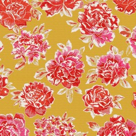 Jacquard Canvas Fabric miu miu yellow x 55cm
