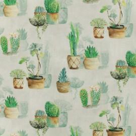 Tissu coton numérique Provence - Agave x 10cm
