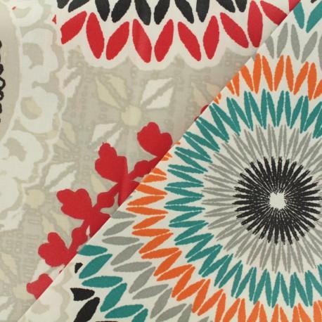 Tissu coton enduit - Colima ficelle x 50cm