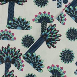 Tissu coton enduit - Atacama bleu x 17cm