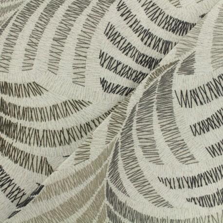 Tissu cretonne enduit - Coucou gris x 50cm