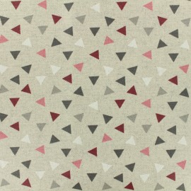 Coated cotton fabric PYRAMID - burgundy x 10cm