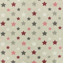 Tissu enduit coton cretonne Astro - bordeaux x 10cm