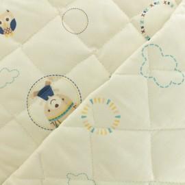 Tissu matelassé Baby cot Tipi - bleu x 10cm