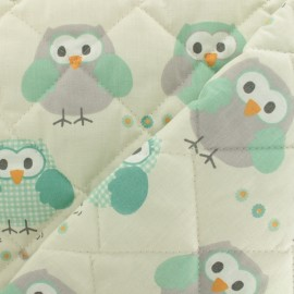 Quilted cotton fabric Baby cot Civetta - ivory x 10cm