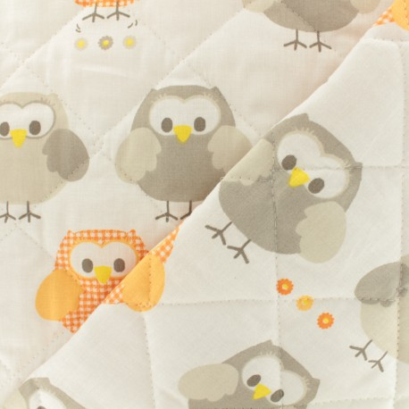 Quilted cotton fabric Baby cot Civetta - white x 10cm