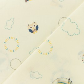 Cotton fabric Baby cot Tipi - blue x 10cm