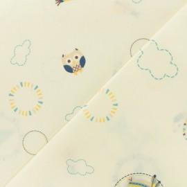 Tissu coton cretonne Baby cot Tipi - bleu x 10cm
