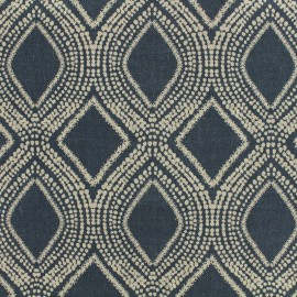 Poly cotton fabric Linnen - navy x 10cm