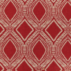 Poly cotton fabric Linen - red x 10cm