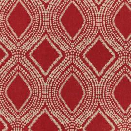 Tissu Oeko-Tex Polycoton Linnen - rouge x 10cm
