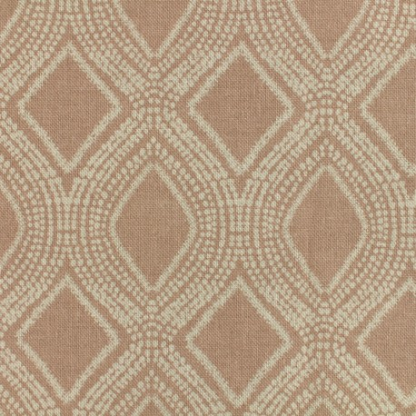 Poly cotton fabric Linnen - blush x 10cm