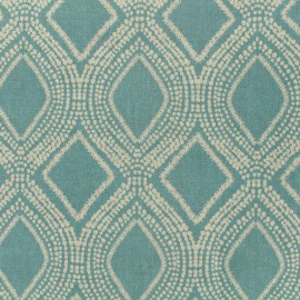 Poly cotton fabric Linnen - aqua x 10cm