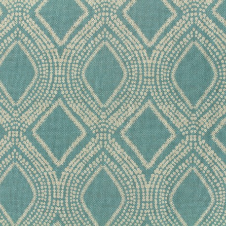 Poly cotton fabric Linnen - aqua x 10cm