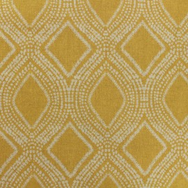 Poly cotton fabric Linnen - mustard x 10cm
