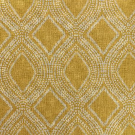 Poly cotton fabric Linnen - mustard x 10cm