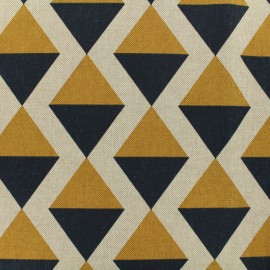 Poly cotton fabric Linnen Amalfi - mustard x 10cm