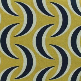 Poly cotton fabric Linnen Krabi - mustard x 10cm