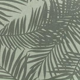 Tissu Polycoton Linen Palm- taupe x 10cm