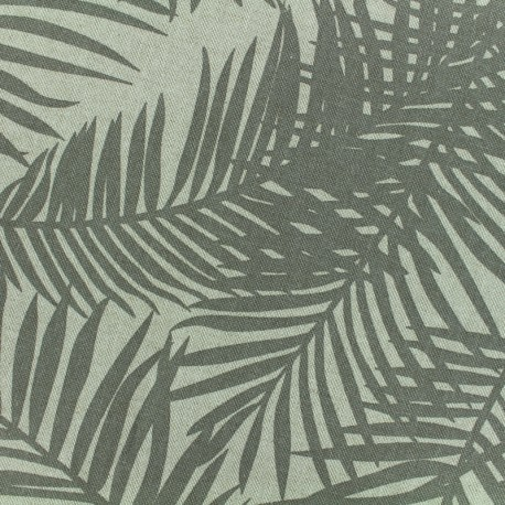 Poly cotton fabric Linnen Palm - mole x 10cm