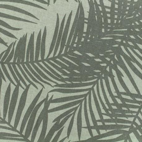 Tissu Oeko-Tex Polycoton Linnen Palm- taupe x 10cm