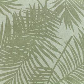 Tissu Oeko-Tex Polycoton Linnen Palm - seigle x 10cm