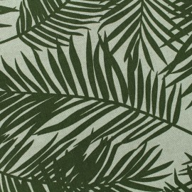 ♥ Coupon 10 cm X 140 cm ♥  Poly cotton fabric Linen Palm - lime tree