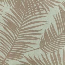 ♥ Coupon 10 cm X 140 cm ♥  Poly cotton fabric Linen Palm - blush