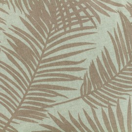 Tissu Polycoton Linen Palm - blush x 10cm