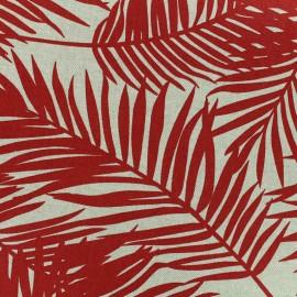 Tissu Oeko-Tex Polycoton Linnen Palm - rouge x 10cm