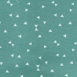 Poly cotton fabric Triangle - wild water  x 10cm