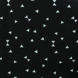 Poly cotton fabric Triangle - black  x 10cm