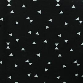 Tissu Oeko-Tex Polycoton Triangles blanc - noir x 10cm