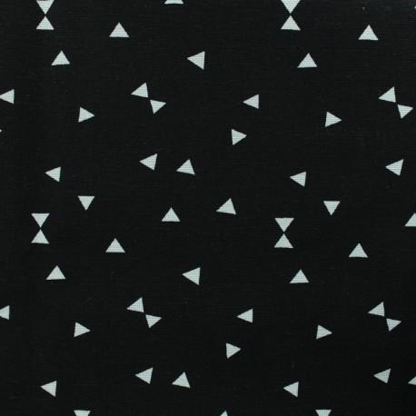Poly cotton fabric Triangle - black  x 10cm