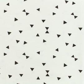 Tissu Oeko-Tex Polycoton Triangles noir - blanc x 10cm