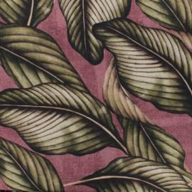 Tissu Polycoton Panama - prune x 10cm