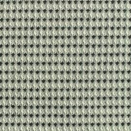 Tissu Cton tissé Nid d'abeille - noir et blanc x 10cm