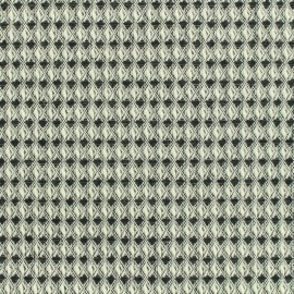 Woven cotton fabric Honeycomb - black and white  x 10cm