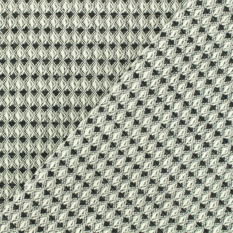 Woven cotton fabric honeycomb black and white x 10cm for Black and white childrens fabric