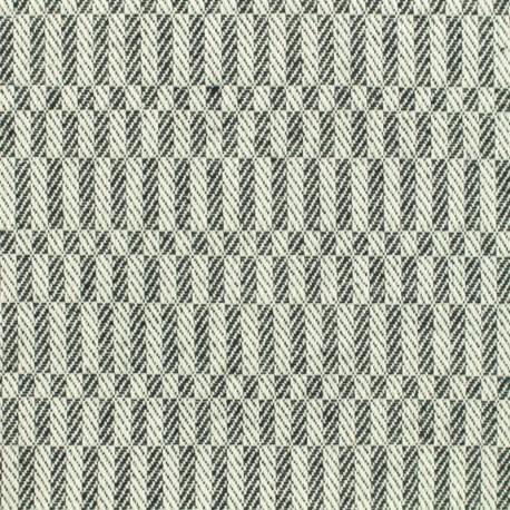 Tissu Coton tissé Damier - noir et blanc x 10cm