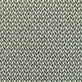 Tissu Coton tissé Losange - noir et blanc x 10cm